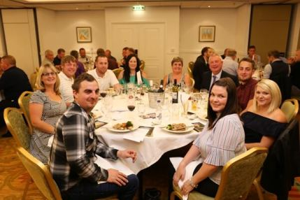 Trustee, Kate Trevelyan, her partner Dan and their guests at the dinner.