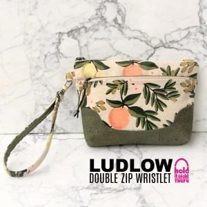 Ludlow Double Zip Wristlet or Bum Bag – with video tutorial