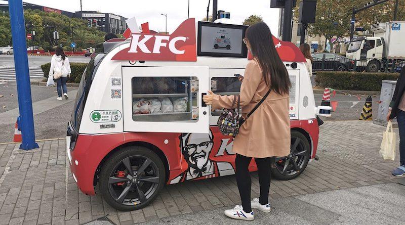 Kínát ellepik a KFC 5G önvezető automatái