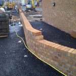 Example of a Garden Wall Before Core Drilling