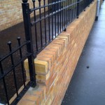 Garden Wall Completed with Railings