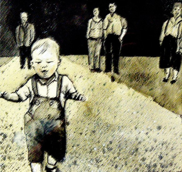 Andrew's first steps (Dunkeld) - by Peter Gordon