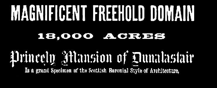 Dunalastair for sale 1890