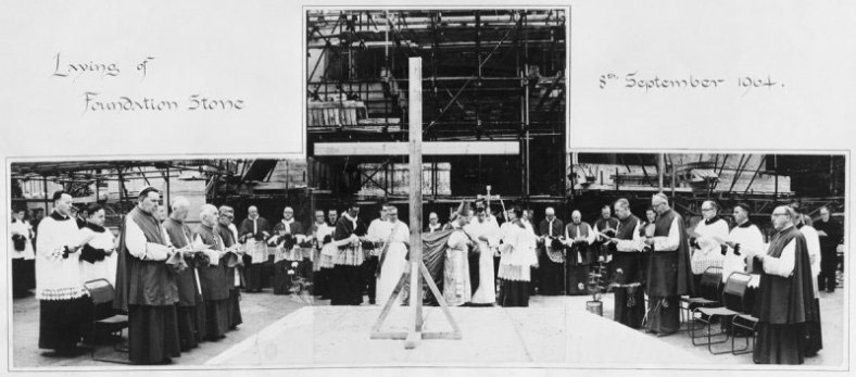 St Peter's Seminary, Cardross - laying the foundation stone