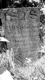 Tombstone in Dunastair graveyard - Mount Alex