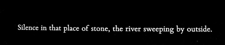 the river rushes by