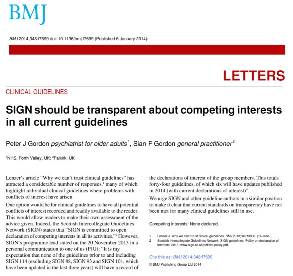 SIGN guidelines transparency