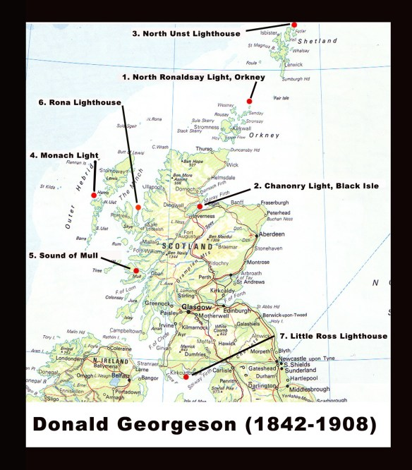 Donald Georgeson, Lighthose keeper