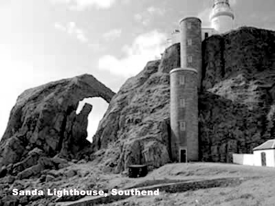 'The Ship Rock' Lighthouse on Sanda island