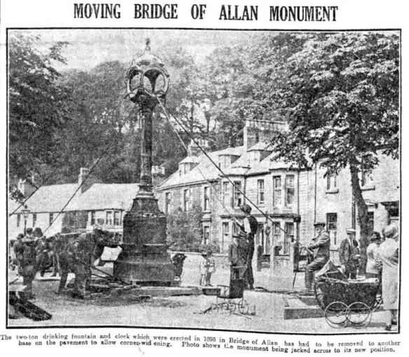 June 1929 moving the clock & fountain