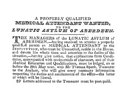 May 1830 - looking for a Medic