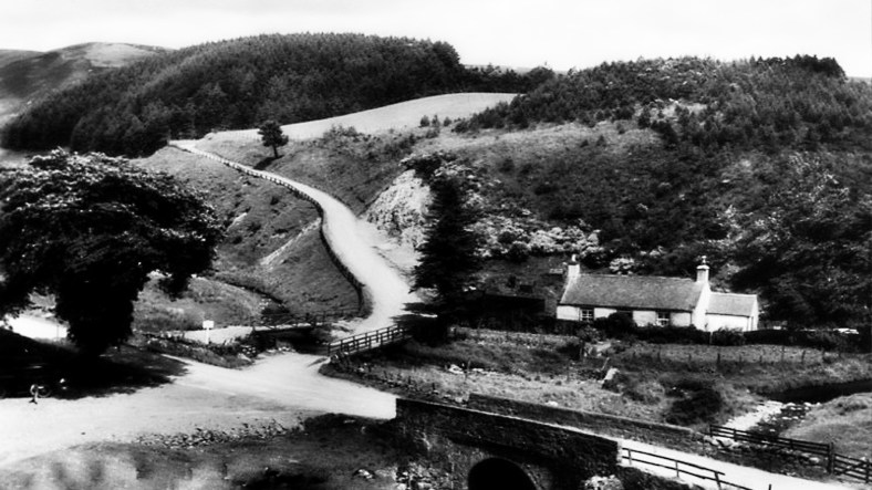 Old Photograph Clatterin' Brig Scotland