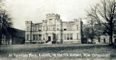 Smyllum Park - old Miss Carmichael dies 14 Jan 1858
