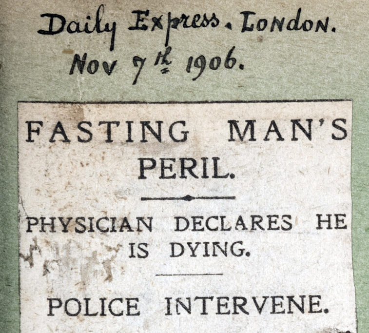 7 Nov 1906 Fasting Man's peril