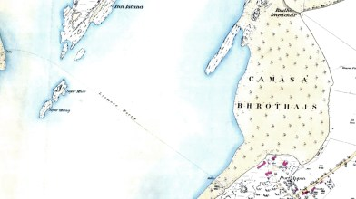 Port Appin to Lismore map 1856