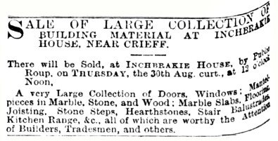 Inchbrakie, August 1883