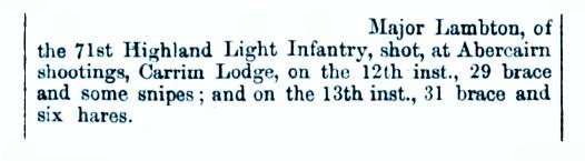 Major Lamberton Aug 1864 Carim Lodge