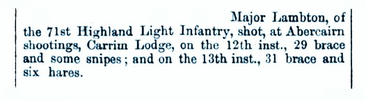 Major Lamberton Aug 1864 Carim Lodge