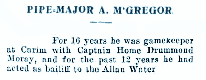 March 1924 Pipe Major McGregor