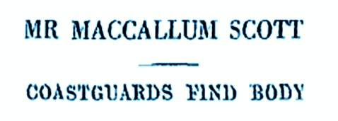 coastguards find body sep 6, 1928