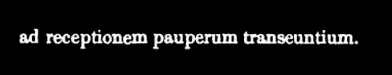 adreceptionempauperumtranseuntium