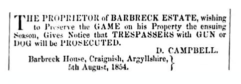 1854 Barbreck