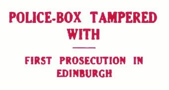1933 police box tampered wi 1