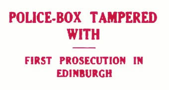 1933 police box tampered wi 1