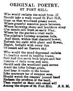 St Fort Hill 1884 poem