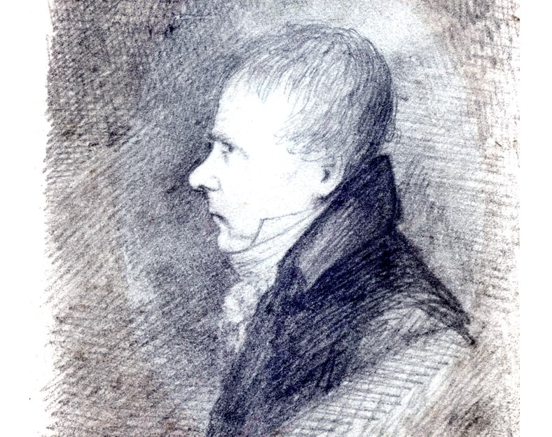 Walter Scott by Robert Scott Moncrieff c1816-1820