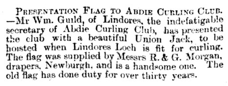 Jan 1897 new Union Jack flag for Abdie curlers