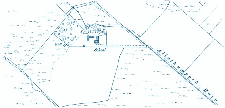 Tillyduke School map 1901