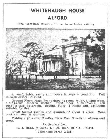 Whitehaugh House, Alford, 1968
