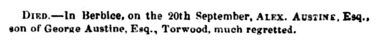 1844 death Austine son
