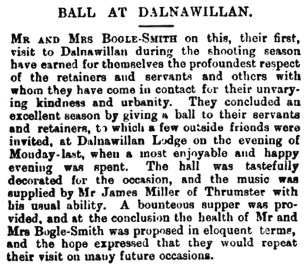 1900, Ball at Dalnawillan Lodge