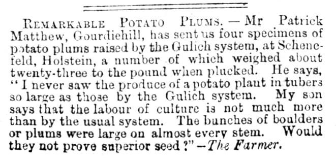Aug 1868 Patrick Matthew