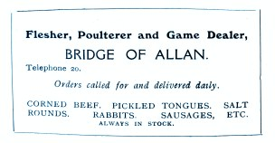 John Cullens, Butcher, Bridge of Allan - still going strong in April 2020 (a)