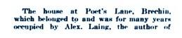 Nov 1930b - Poets Lane, Brechin