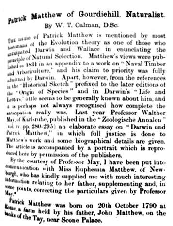 Patrick Matthew - Naturalist