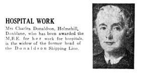 January 1951 Mrs Charles Donaldson, Holmehill, Dunblane