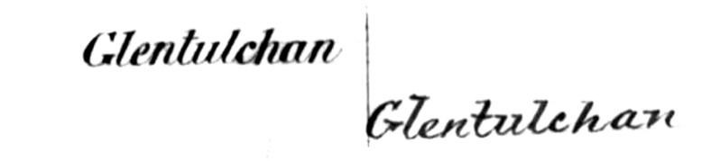 Glentulchan OS book Perthshire