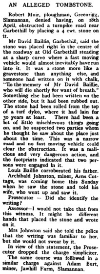Jawhills - May 1920 - an alleged tombstone