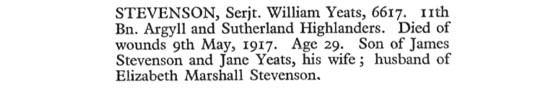 Wm Yeats Stevenson 1917 e