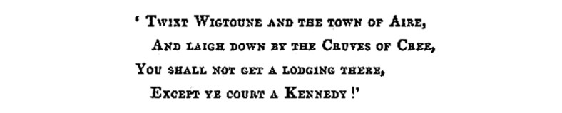 Kennedy of Glenour and the Kennedy Clan of Ayrshire 2