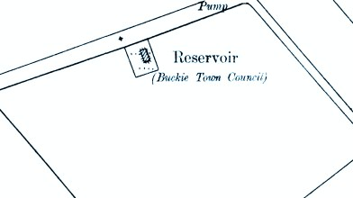 1902 OS map - Buckie Town Council covered reservoir