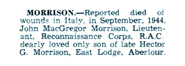 Oct 1944 John MacGregor Morrison