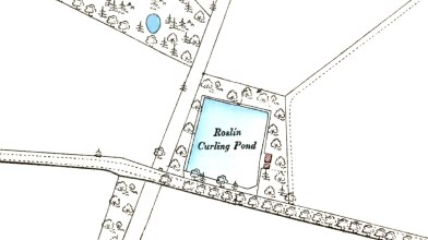 Roslin Curling pond - OS map 1892