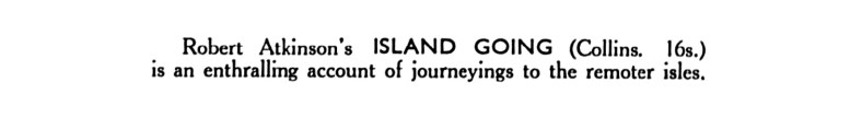 Island Going - Robert Atkinson 3