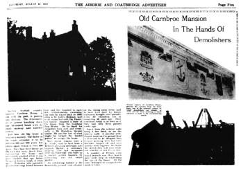 Carnbroe House Aug 1952