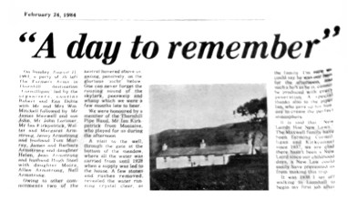 24 February 1984 - Cormilligan - A day to remember